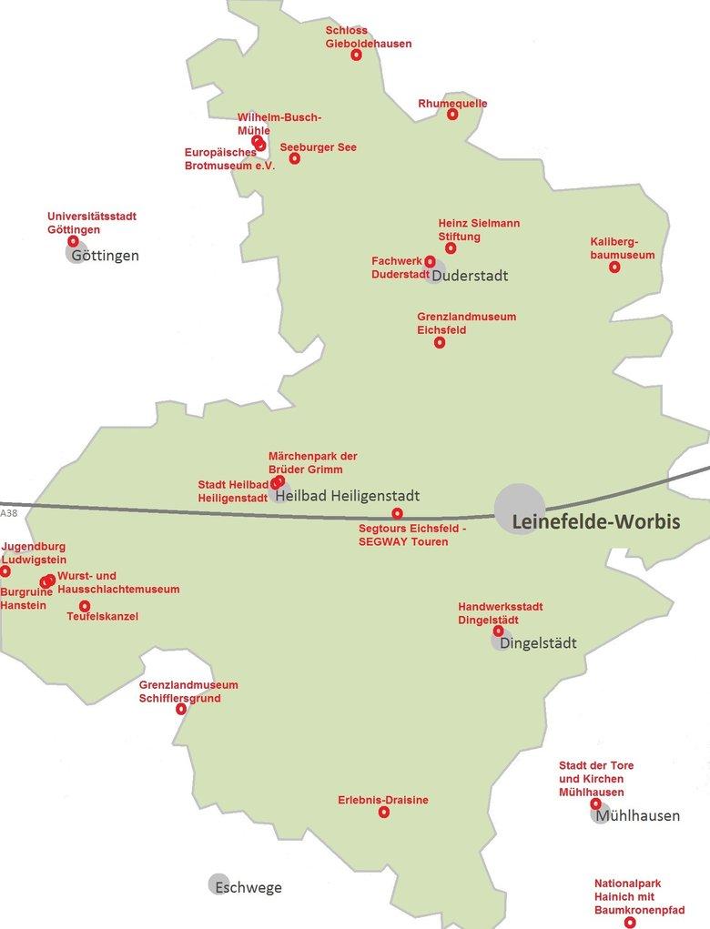 Eichsfeld Karte Goudenelftal